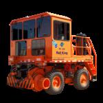 Front view of orange Rail King
