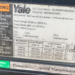 Yale lift truck model sign