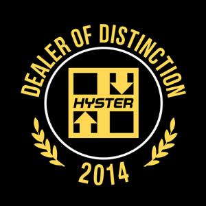 Hyster Dealer of Distinction Award - 2014