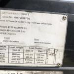 Hyster 253687 model label info