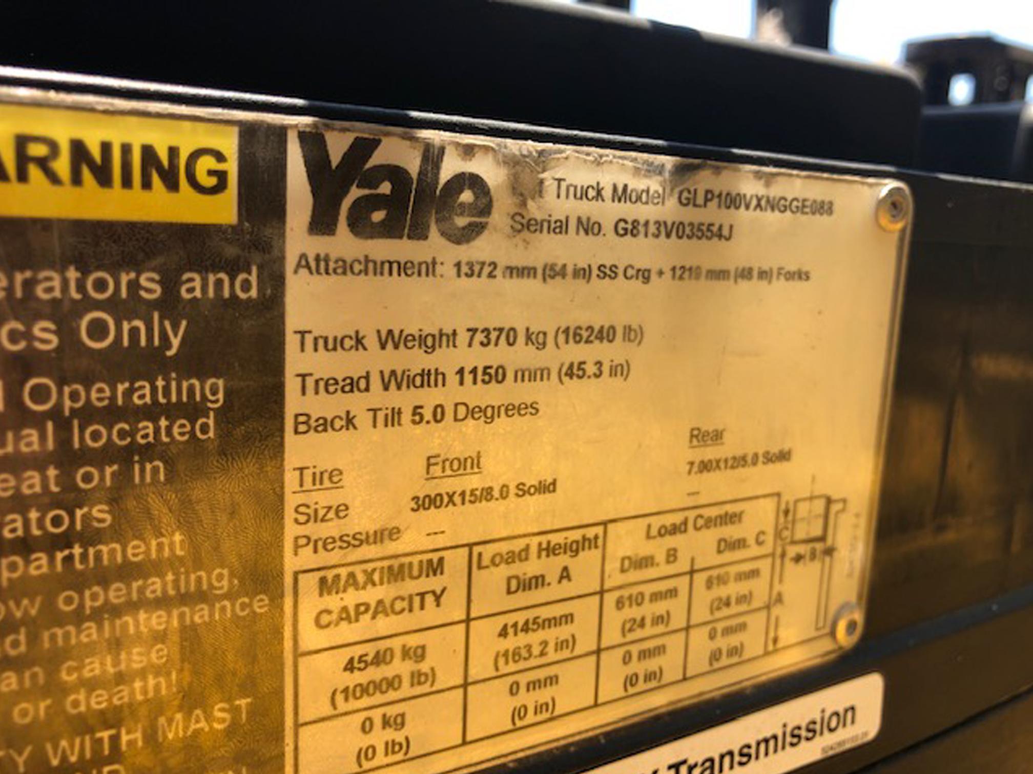 Yale 259015 information card
